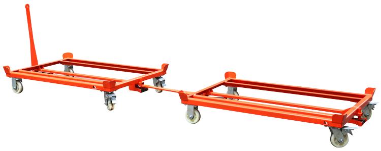 Paletten-Fahrgestell mit Verbindungsstange